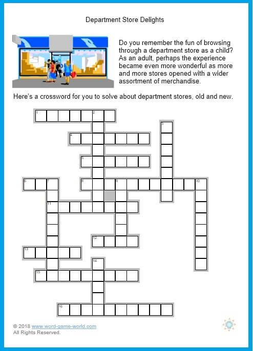 Printable Easy Crosswords With Answers Printable Crossword Puzzles Crossword Free Printable Word Searches