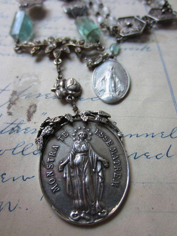 Virgin Mary medal
