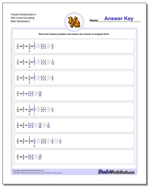 Multiplying Fraction Worksheets With A Focus On Cross Cancelling Super Detailed A Fractions Worksheets Multiplying Fractions Multiplying Fractions Worksheets