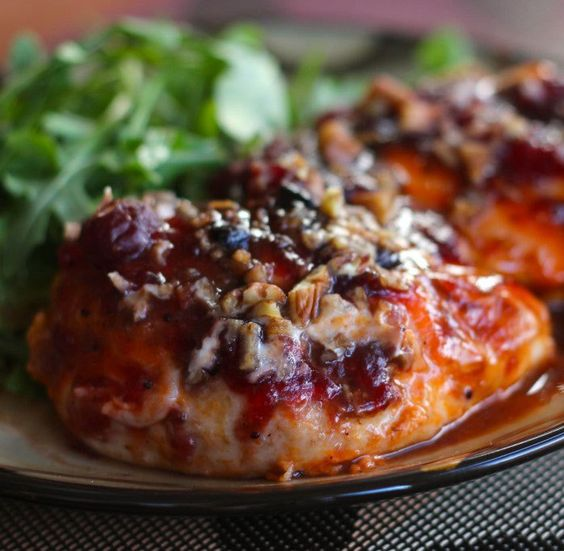 Cranberry Chicken...... was very tasty we made quinoa and japanese sweet potatoes with it