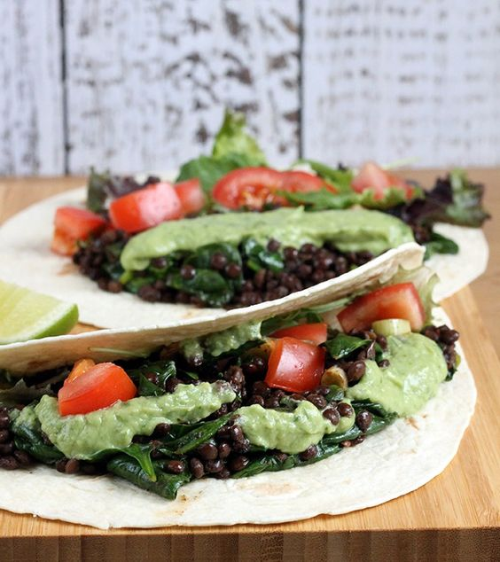 Chipotle Lentil Soft Tacos with Avocado Cream   Vegan   Veggie Desserts Blog
