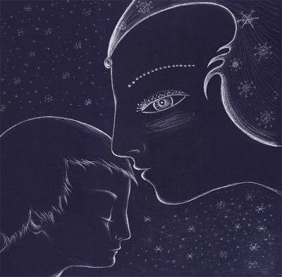 La reina de las nieves. Hans Christian Andersen. Ilustración para la exposición Nadal que se inaugurará en diciembre.: