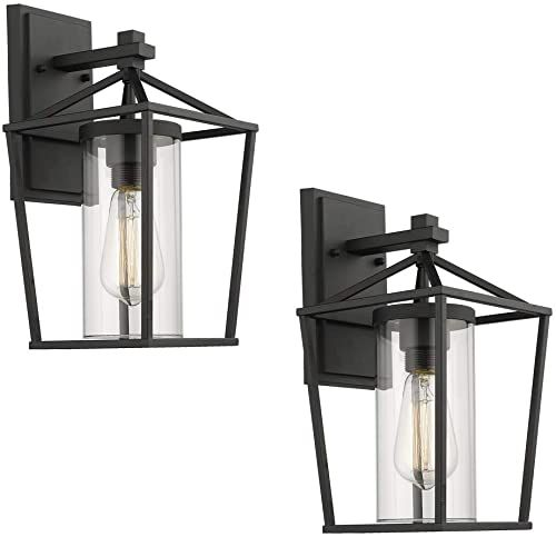 Enjoy Exclusive For Emliviar Outdoor Porch Lights 2 Pack Wall Mount Light Fixtures Black Finish Clear Glass 20065b1 2pk Online Prettytoppro In 2020 Wall Mounted Light Wall Mount Light Fixture Porch Lighting