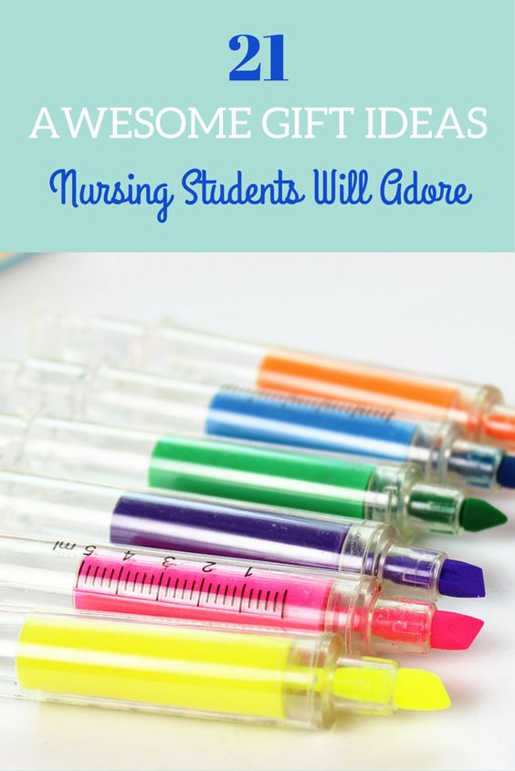 21 AWESOME GIFT IDEAS NURSING STUDENTS WILL ADORE! Some it these are cheesy some of these I love
