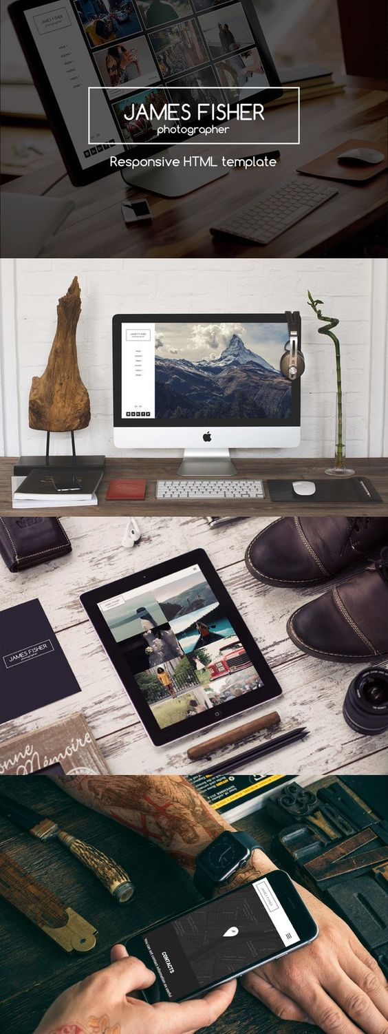 JF - Responsive Photography Template. HTML/CSS Themes. $15.00