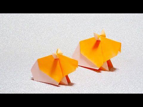 簡単折り紙 ハムスターの折り方 How To Make A Hamster Youtube 折り紙 簡単 折り紙 花 折り紙