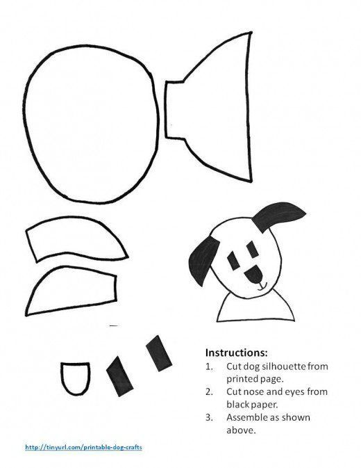 Pattern For Happy Dog With Ears Outstretched Shapes For Kids