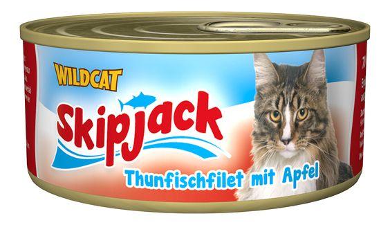Skipjack - Thunfischfilet mit Apfel. Der vitaminreiche Thunfisch-Snack von Healthfood24 #healthfood24 #wildcatkatzenfutter #katzennassfutter