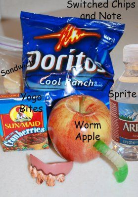 Swap out your kids lunch items for a fun April Fools surprise!