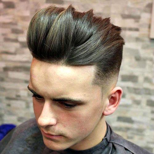 Mid Fade Haircut Long On Top