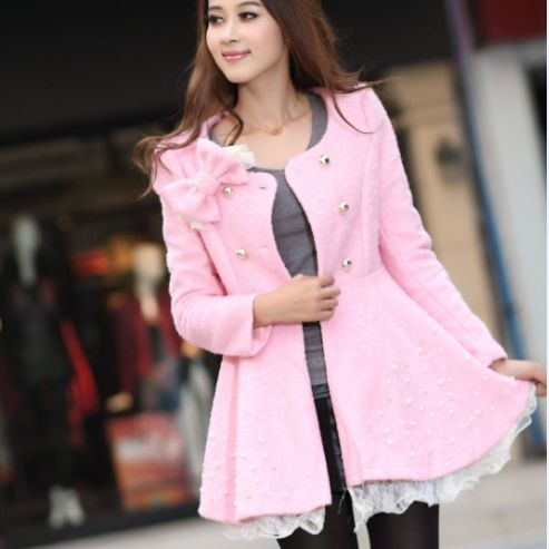 """Korean sweet woolen coat. Use this coupon code """"playbanovici"""" to get all 10% off!"""