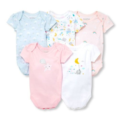 9-12 Months The Children/'s Place Baby Basic Bodysuit Pack of 5 White