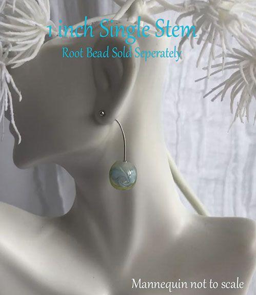 Globe single earring