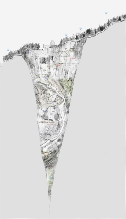 Spine 3 Narrative Drawing - Site Plan and Section by Max Bontoft