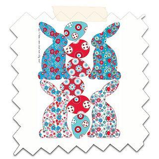 gratuit lapin de paques à imprimer petit by Nadja PETREMAND, via Flickr