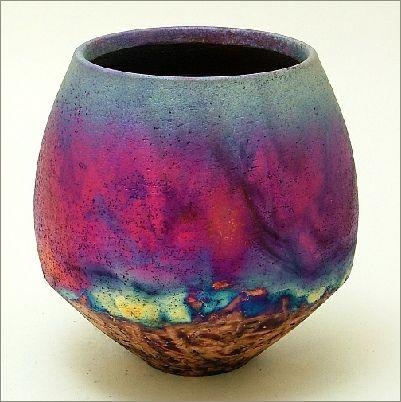Raku Pottery Glazes | Chris Hawkins makes handthrown raku fired studio pottery from his ...
