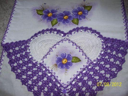 Pano De Prato Com Bico Em Croche Croche Pano De Prato Flor De