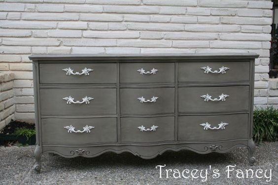 Dresser, Chest of Drawers, French Country, Grey, Furniture