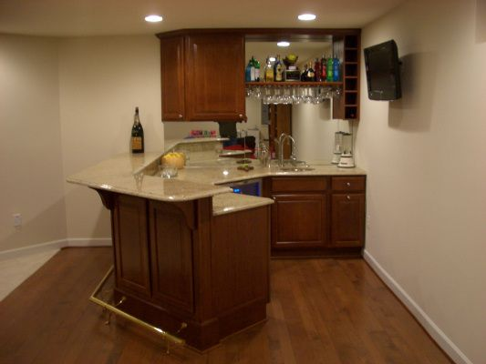 Small basement bar designs rob roy homes examples for Basement wet bar plans