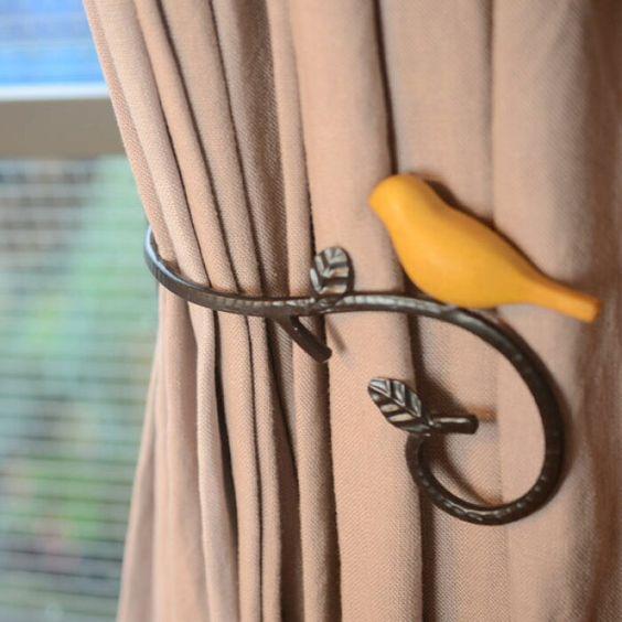 楽天市場 小鳥のカーテンホルダーbr 左右別売 カーテンホルダー