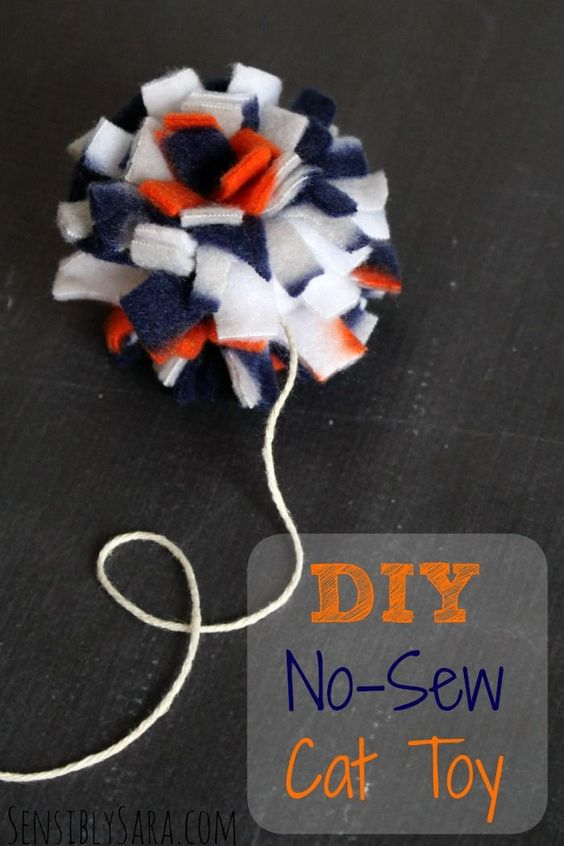 Learn how to make the easiest DIY no-sew cat toys! [AD] #MyCatMyMuse: