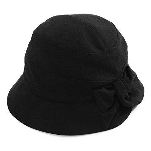 SIGGI Winter Cloche Bucket Hut warme weiche 1920s Vintage Glockenhut Damen
