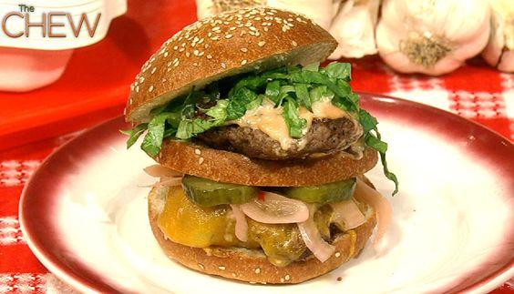 Michael Symon's Big Mike Burger #thechew
