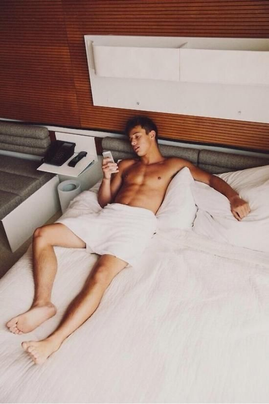These hot guys dont want you to get out of bed yet