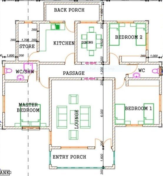 Simple 3 Bedroom Design 1254 B Bedroom House Plans House Floor Design Three Bedroom House Plan