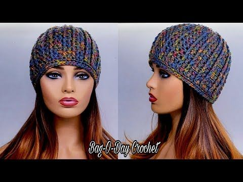 How To Crochet A Ribbed Beanie Hat Bag O Day Crochet Tutorial 570 Youtube Ribbed Crochet Crochet Tutorial Crochet Beanie Hat