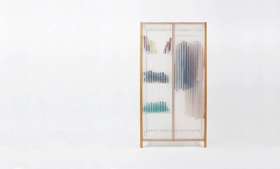 industrialdesigners: Bounce!a light and clean cabinet made of wood, silicone and methacrylate. Bounce! has been designed by the Industrial Design Master student Rouxin Li at the School of Art and Design Burg Giebichenstein in Halle, Germany.