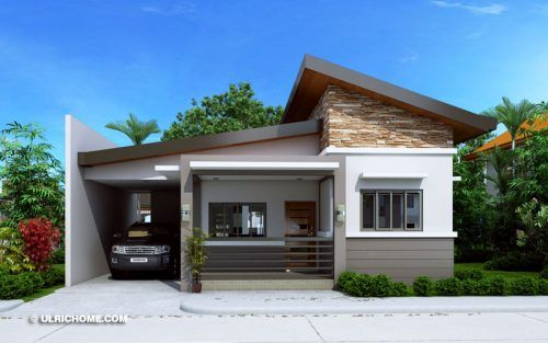Modern Bungalow House Design With Three Bedrooms Ulric Home Best Modern House Design Simple House Design One Storey House