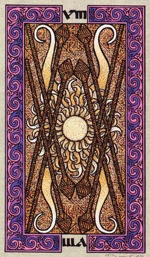 Celtic Tarot Product Summary: Celtic Tarot - 7 Of Wands