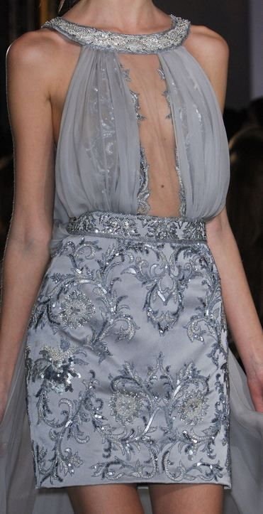 Zuhair Murad Haute Couture S/S 2013 ...a little more material on the upper section & it would be perfect!: