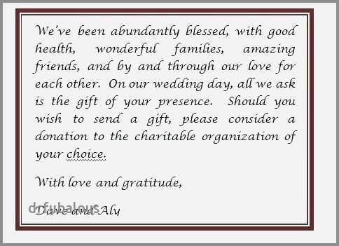 46 Awesome Birthday Invitation Wording No Gifts Donation In