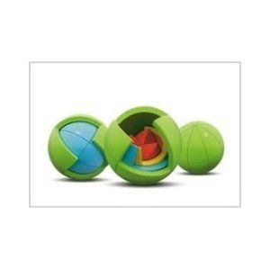 Oblo Puzzle Spheres. Colorful layers of spheres create a challenging and fun 3D puzzle for kids.