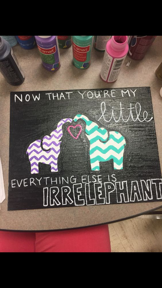 Craft by our sister emily sorority aoii x3 pinterest for Sorority crafts for little