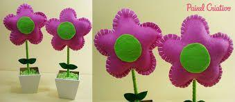 Resultado de imagem para flor de feltro molde