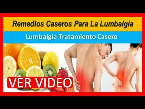 remedios naturales para curar lumbago