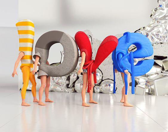 Love 3D by Chris LaBrooy, via Behance