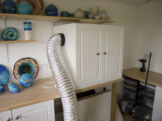 Great Diy Spray Booth From A Cupboard Diy Workshop