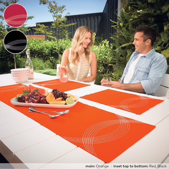 This classic cotton table range will make the perfect dinner companion with its beautiful, bold colours and contemporary style. Highlighted with crescents of contrasting silver stitching, Seville provides a modern, striking and fashionable addition to table décor. This design is ideal for an indoor or al fresco dining experience  http://www.linenparties.com/public/Products/kitchen-dining/seville.aspx  Lorraine Lea