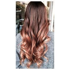 Brunette with rose gold balayage