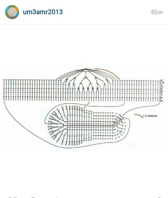 crochet sandal diagram #15
