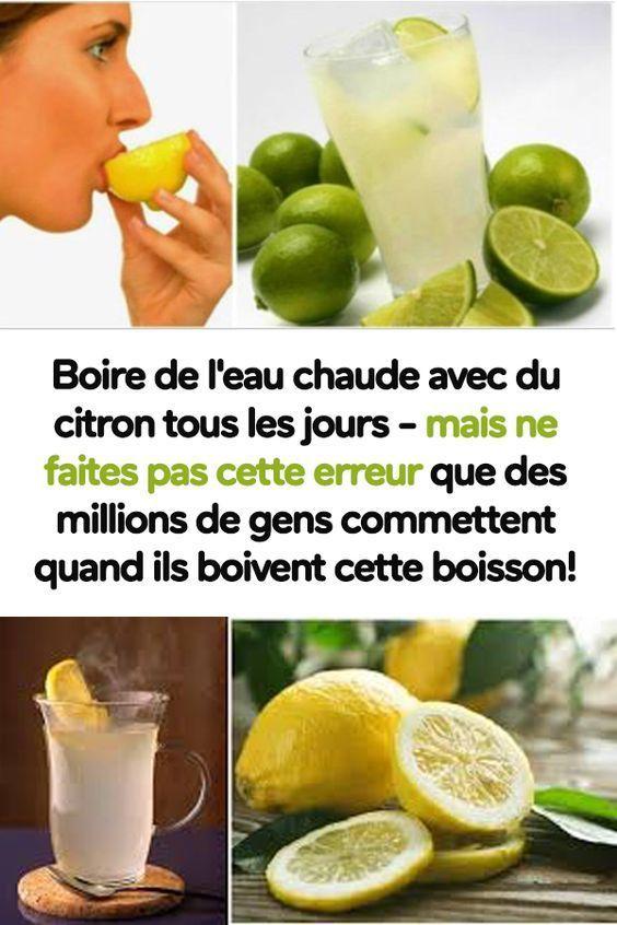 eau chaude vinaigre de cidre citron