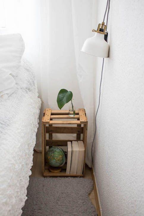 Inspiration Fur Dein Schlafzimmer Der Nachttisch Im Diy Look Mit