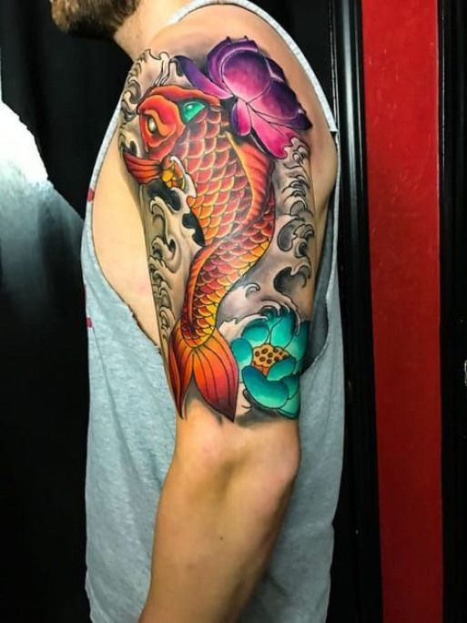 Tatouage Carpe Koi La Force Tranquille Japanesesleeve Japanese Sleeve Koi Japanese Koi Fish Tattoo Japanese Tattoo Koi Fish Tattoo