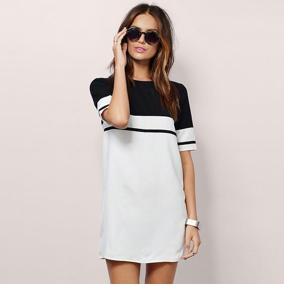 Scoop Short Sleeves Loose Casual Short Dress  #fashion #mayyourfashion #dresslover #party #fashionlover #shopaholic #outfits #womensfashion #fashionstyle