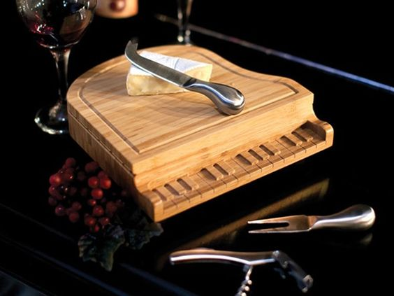 Piano Cheese Board and Tools Set - Home.Woot If only you could actually play it too ;)
