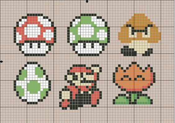 Mario Brothers Cross Stitch Pattern | Super Mario